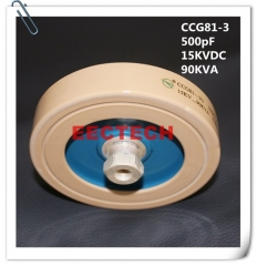 CCG81-3, 500PF, 15KVDC high voltage high power capacitor