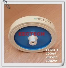 CCG81-4, 1000PF, 20KVDC high voltage high power capacitor