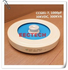 CCG81-7, 1000PF, 30KVDC high voltage high power ceramic capacitor