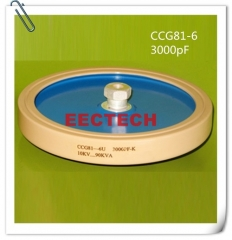 CCG81-6, 3000PF, 10KVDC high power ceramic disc capacitor