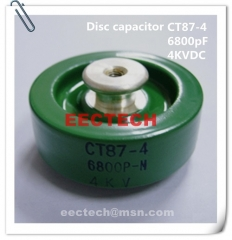 CT87-4, 6800PF, 4KVDC, high voltage ceramic capacitor