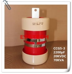 CCG5-3, 2200pF, 20KVDC cylinder/ tubular type ceramic RF power capacitor