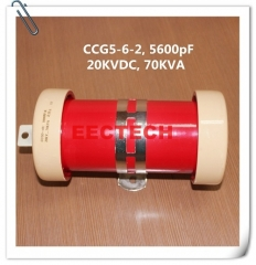 CCG5-6-2, 5600pF, 20KVDC cylinder/ tubular type ceramic RF power capacitor