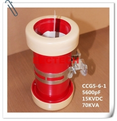 CCG5-6-1, 5600pF, 15KVDC cylinder/ tubular type ceramic RF power capacitor