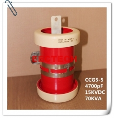 CCG5-5, 4700pF, 15KVDC cylinder/ tubular type ceramic RF power capacitor