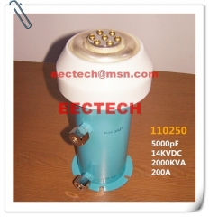 Water cooling capacitor (WCC) 110250, 5000pF/14KV, equal to TWXF110250, CCGS110250
