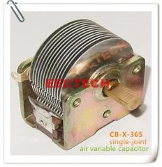Air variable capacitor 12PF~365PF, single joint, CB-X-365 equivalent air  capacitor