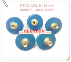 DT30, 222, high voltage small button capacitor, 6KV/2200PF