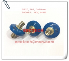 DT20, 202, high voltage small button capacitor, 3KV/2000PF