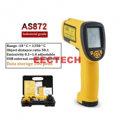 Xima Industrial Infrared Thermometer Handheld Electronic Thermometer Non-contact Thermometer AS872  1350℃