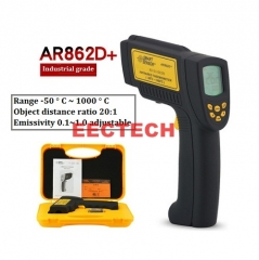Xima infrared thermometer temperature measuring gun industry 1000 degree AR862D+  -50℃~1000℃