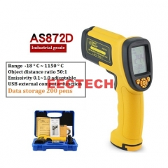 Xima AS872D high temperature thermometer Industrial grade infrared thermometer thermometer temperature gun 1150 °C