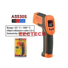 Xima AS530S Infrared Thermometer Red Industrial Grade Infrared Handheld Electronic Digital Thermometer AS530S Color Screen [-32-580°C]