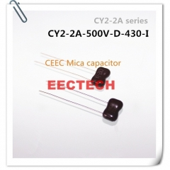 CY2-2A-500V-D-430-I mica capacitor from Beijing EECTECH