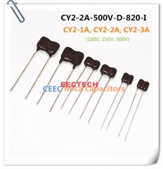 CY2-2A-500V-D-820-I mica capacitor from Beijing EECTECH