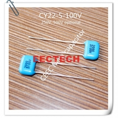 CY22-5-100V-D-3000-I silver coated mica capacitor from Beijing EECTECH