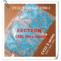 CY22-5-100V-D-2700-I silver coated mica capacitor from Beijing EECTECH