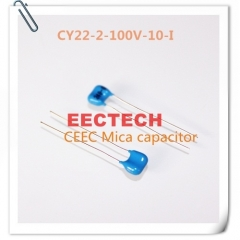 CY22-2-100V-10-I mica capacitor from Beijing EECTECH